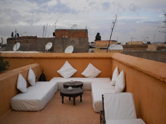 Dar Zitouna : zona relax nella terrazza