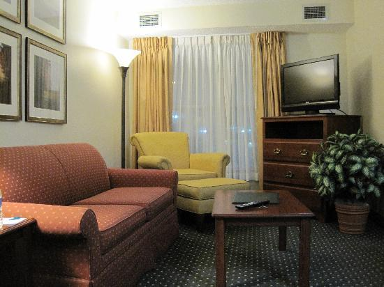 Homewood Suites by Hilton Houston Willowbrook Mall : Living room