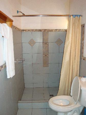 Santiago Atitlan, Guatemala: Casa Orquidea, room #18 bathroom