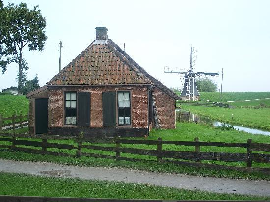 Enkhuizen, The Netherlands: House with windmill