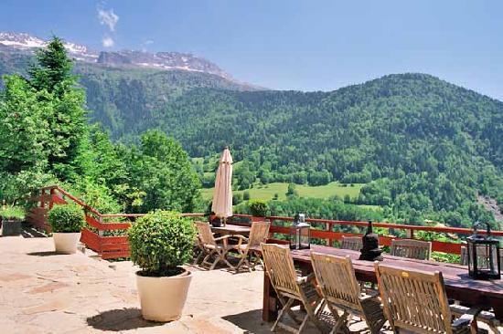 Chalet La Maitreya : sun blessed terrace