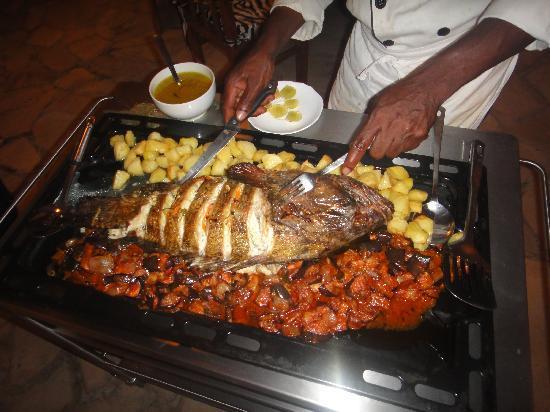 Pwani Mchangani, Tanzanya: Delicius dinner