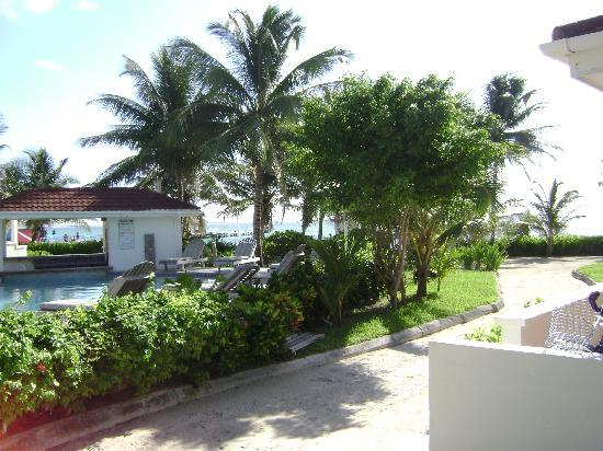 Belize Tradewinds Paradise Villas: Garden and pool