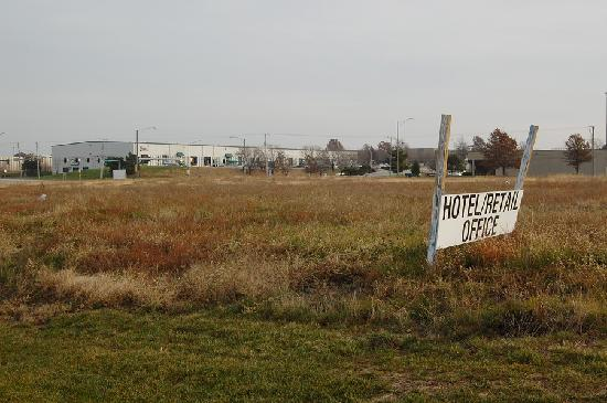 Suburban Extended Stay Lenexa: The property is surrounded by warehouses and vacant lots