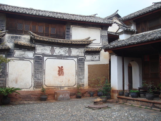 Shaxi Laomadian Lodge : il cortile