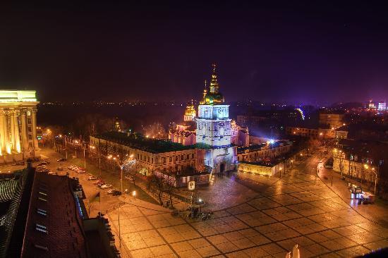 InterContinental Kiev : Kiev panorama at night