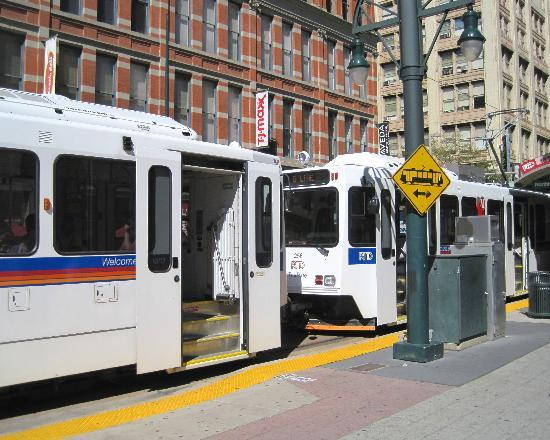 Denver, CO: Light Rail station 16th and California Street