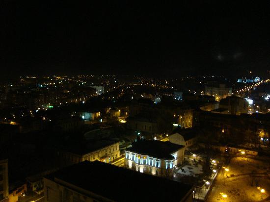 Unirea Hotel & SPA: view from the Panoramic restaurant