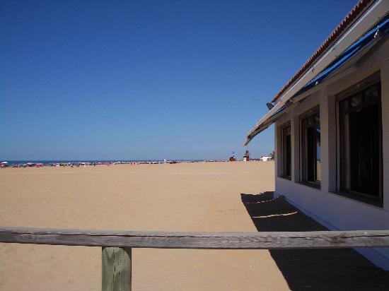 Restaurante Miramar: Ventanas que dan a la playa