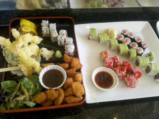 Ambrosia : Tempura and sushi