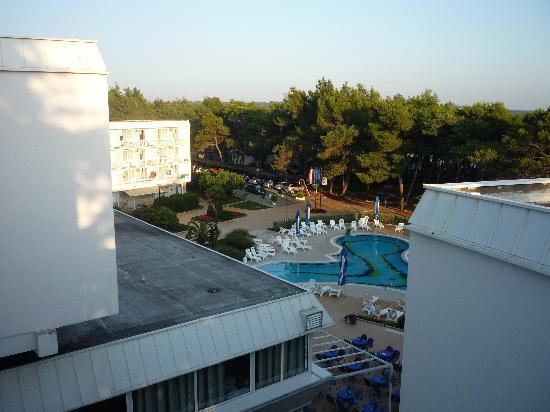 Novigrad, Croatia: Blick vom Westflügel im 4.Stock
