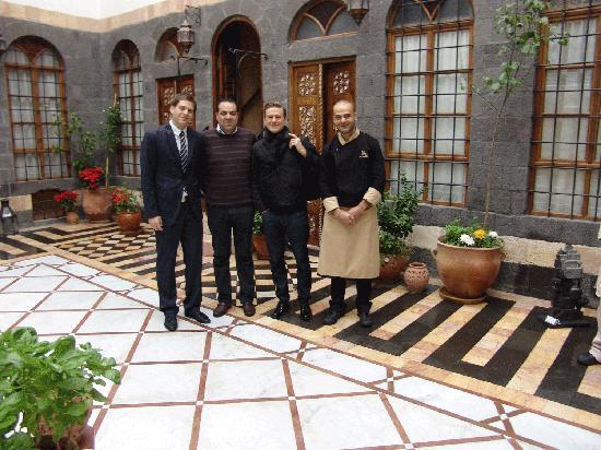 بيت ظفران هوتيل دو شارم: Bryan Adams at Beit Zafran Hotel De Charme, with Adnan Habbab (The Owner), Nour Moftah ( Hotel M