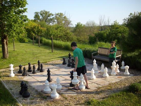 Chambres d'Hotes Les Bourdeaux: Chess-board