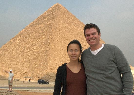 Ramasside Tours - Private Day Tours : The happy couple taking in the sites