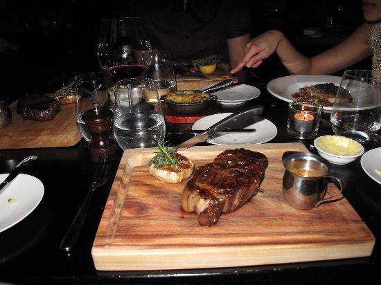 maze Grill: the steak. Yum!