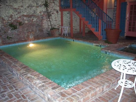 The Frenchmen Hotel: the pool at night