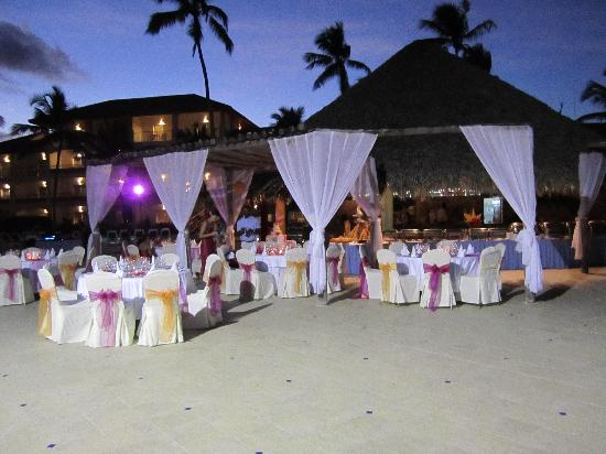 Majestic Colonial Punta Cana Our Wedding Reception At The Wet Bar Set Up Exactly How