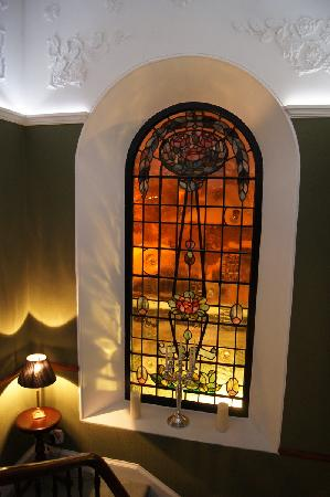 23 Mayfield: Stained glass window on the main staircase