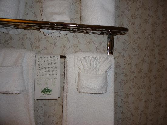 Country Inn & Suites By Carlson, Columbus West: Cute folded washclothes