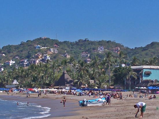 Sayulita, Meksika: South panga area looking north