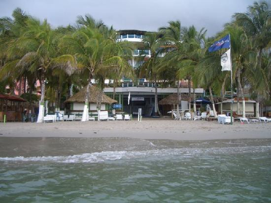El Yaque, Venezuela: hotel desde el mar