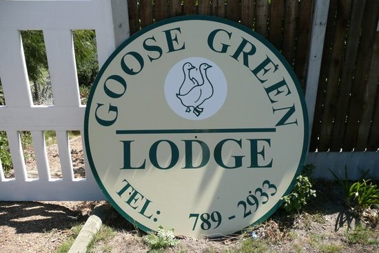 Goose Green Lodge : Look out for the GGL Sign