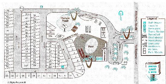Peppertree RV Resort: Here is our Site Map