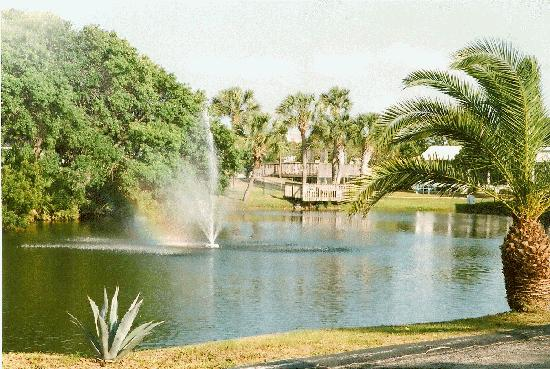 Peppertree RV Resort: Our Private Fishing Pond