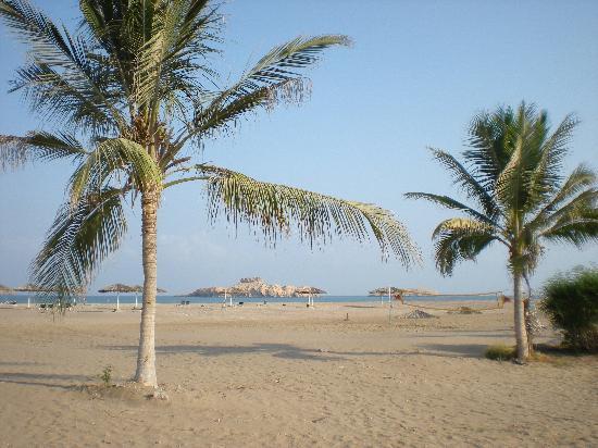 Barka, Omán: vue vers la plage de l'hôtel
