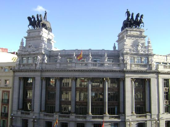 View from the top floor facing calle de alcala picture for Hotel regina alcala 19 madrid