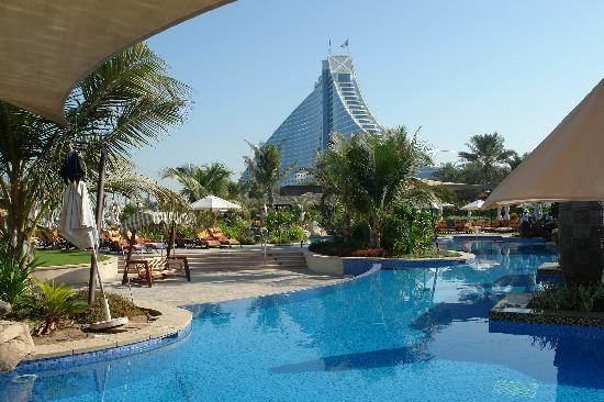 Jbh from executive pool picture of jumeirah beach hotel - Jumeirah beach hotel swimming pool ...