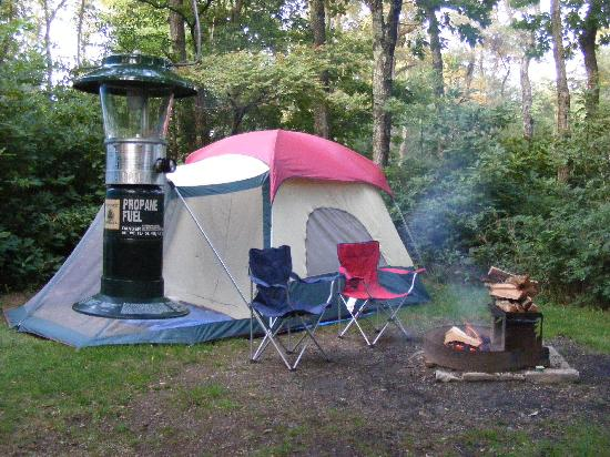 Loft Mountain Campground: tent