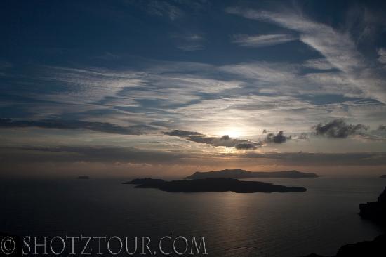 Evening light over the Caldera, Santorini