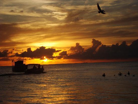 Posada La Langosta: Depois de um dia muito bom...  um pôr do sol maravilhoso!