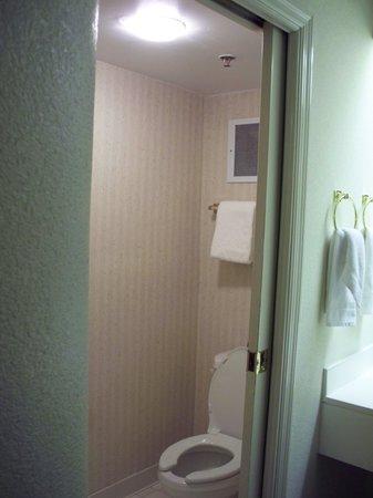 Sleep Inn Nashville Airport: Claustrophobic bathroom