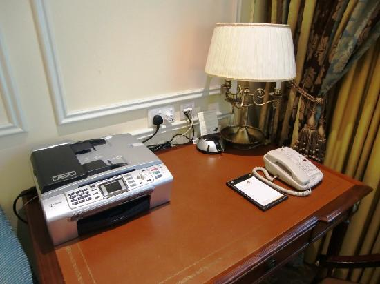 desk with phone and copy fax machine picture of the venetian macao