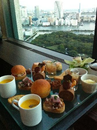 Twenty Eight: afternoon tea set with the view