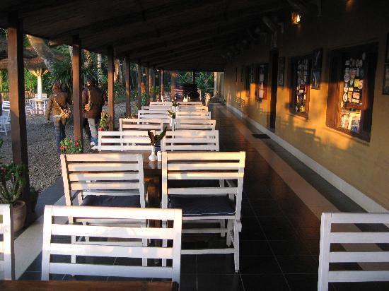 Narayani Safari Hotel: Patio