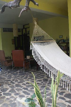 Casa Faya Lobi: Lounge Area Downstairs with TV