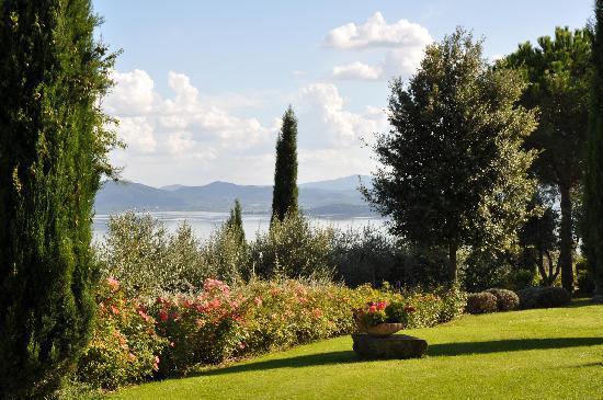 Passignano Sul Trasimeno, Ιταλία: View Villa San Crispolto