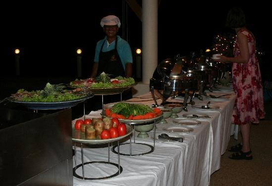 Andaman Princess Resort & Spa: Our private buffet :-)