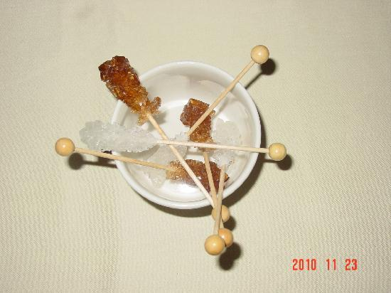 The Danna Langkawi, Malaysia: Sugar sticks, nice idea