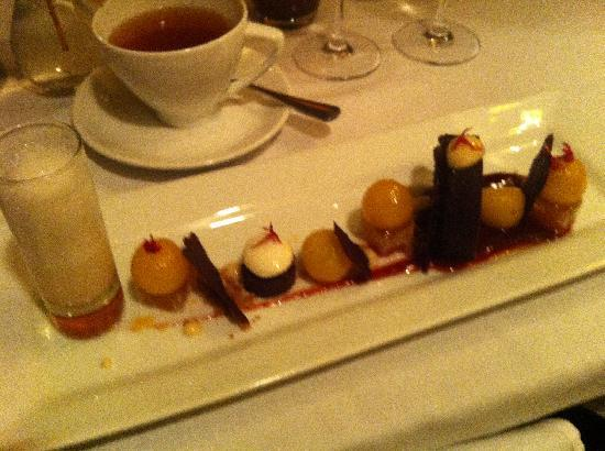 "The Raymond Restaurant: Pear ""dessert"""