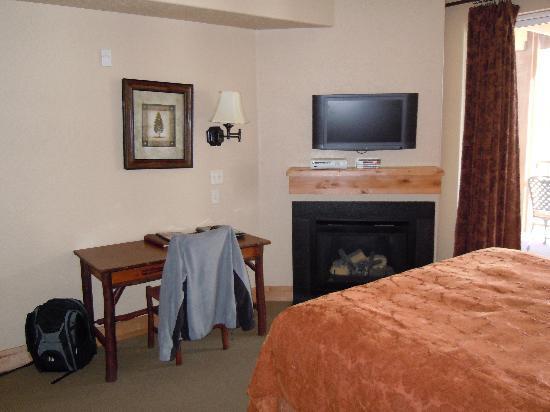 Silverado Lodge : TV and fireplace