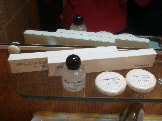 Holiday Park Hotel: Ample toiletries