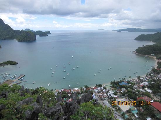 El Nido, Palawan, Philippines - Downtown Top View