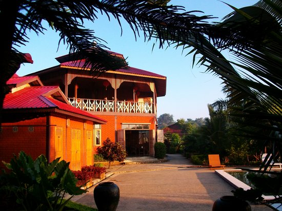 Nyaung Shwe, Birma: Le restaurant