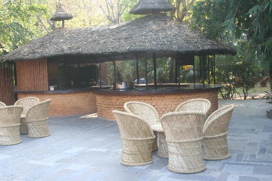 Dhikuli, India: Sitting Area outside the grill house where evening events and bonfire happens