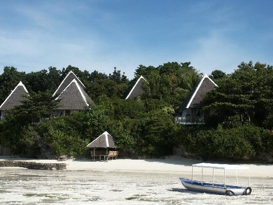 Panglao Island, ฟิลิปปินส์: 海から見たホテルです。