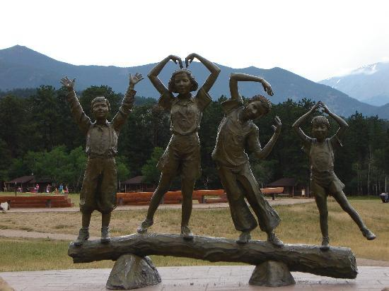 YMCA of the Rockies: statue at entrance